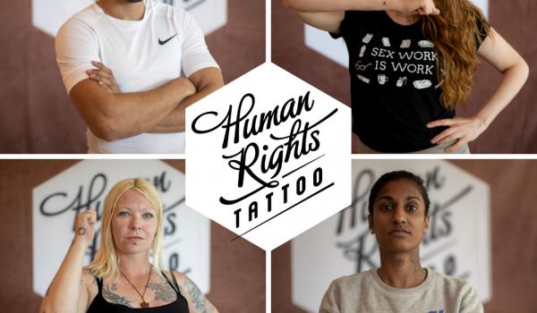 Sekswerkers strijden tegen ongelijkheid met mensenrechten tatoeage